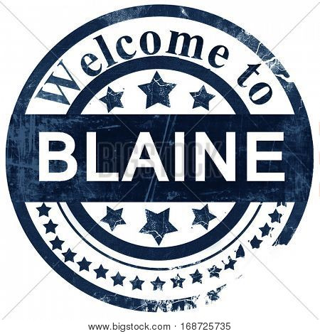 blaine stamp on white background