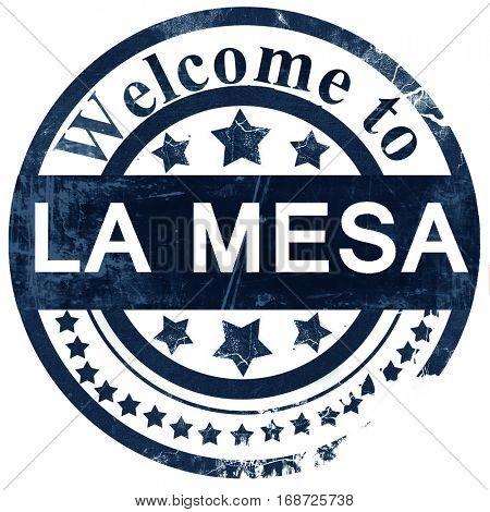 la mesa stamp on white background