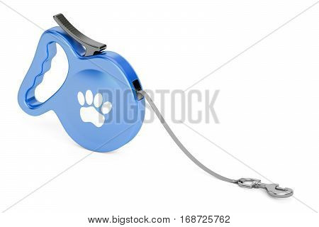 Blue Automatic Retractable Traction Rope. Walking Lead Leash 3D rendering