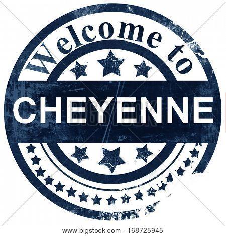 cheyenne stamp on white background