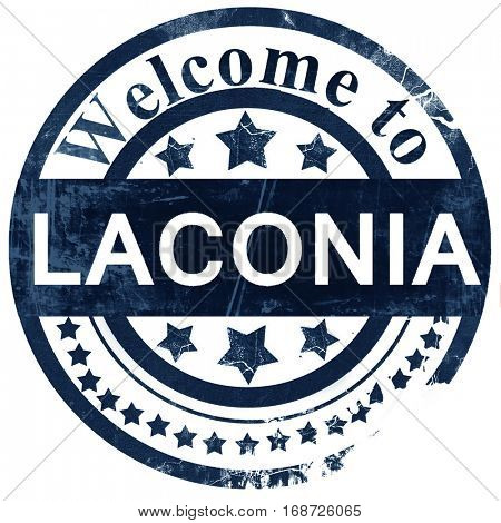 laconia stamp on white background