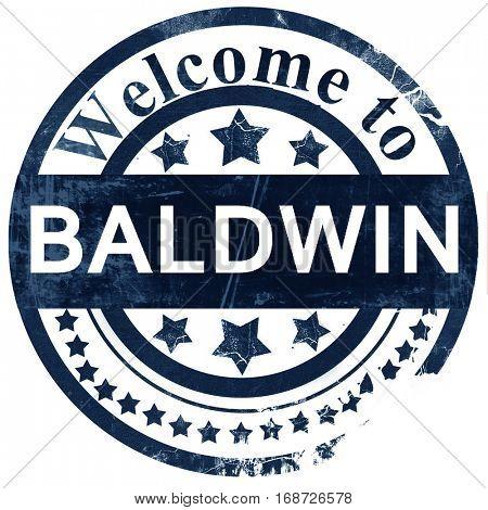 baldwin stamp on white background