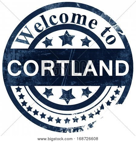 cortland stamp on white background