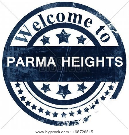 parma heights stamp on white background