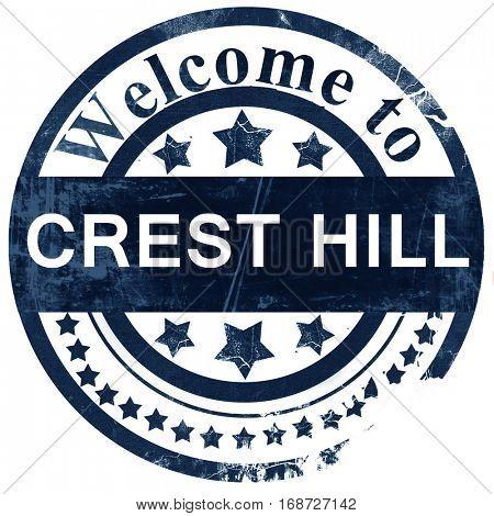 crest hill stamp on white background