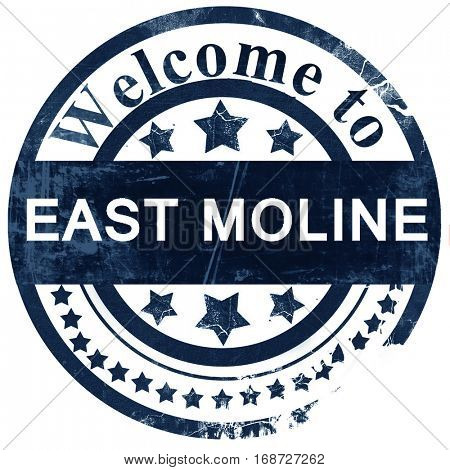 east moline stamp on white background
