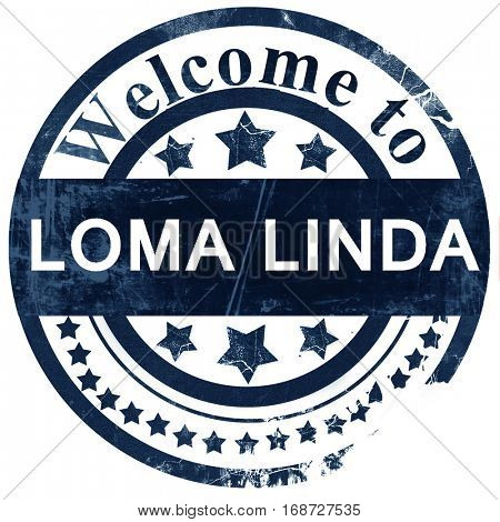 loma linda stamp on white background