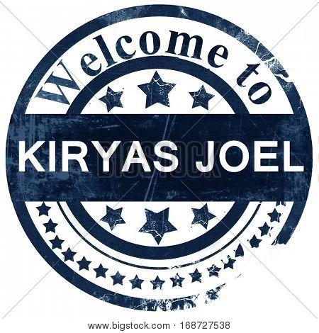 kiryas joel stamp on white background