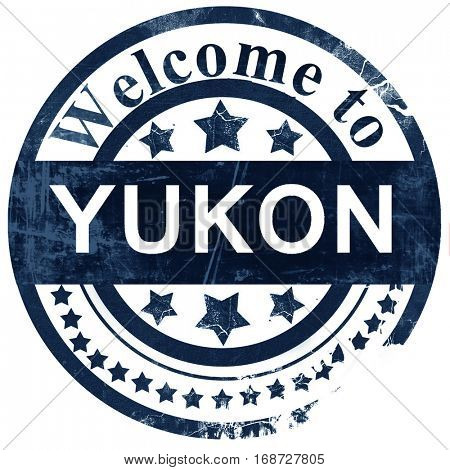 yukon stamp on white background