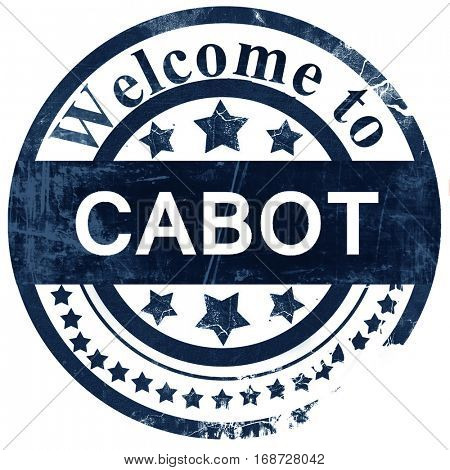 cabot stamp on white background