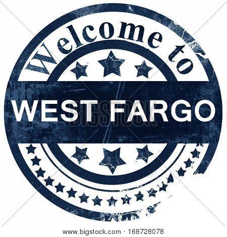 west fargo stamp on white background