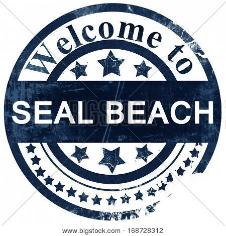 seal beach stamp on white background
