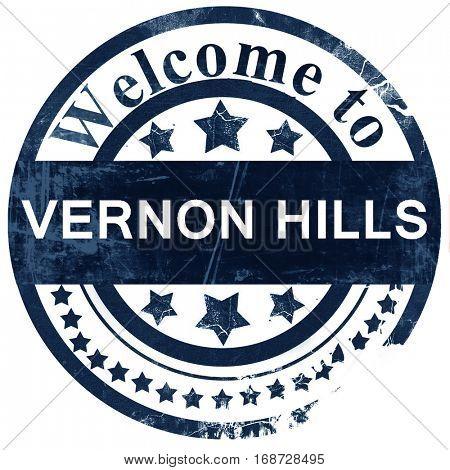 vernon hills stamp on white background