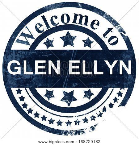 glen ellyn stamp on white background