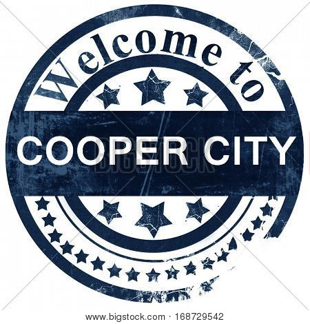 cooper city stamp on white background