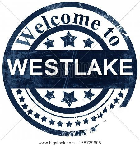 westlake stamp on white background
