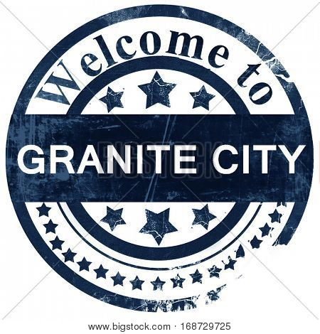 granite city stamp on white background