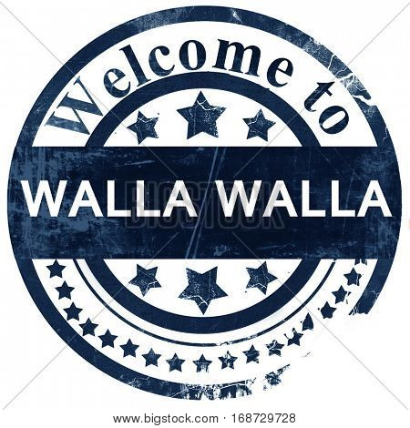 walla walla stamp on white background