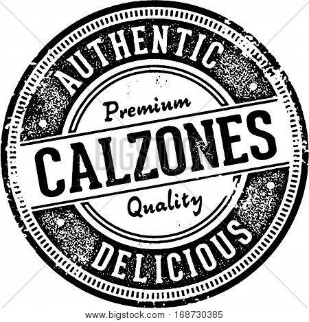 Vintage Style Calzone Italian Food Stamp