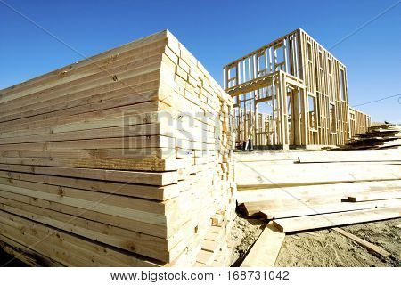 Construction Frame of a House
