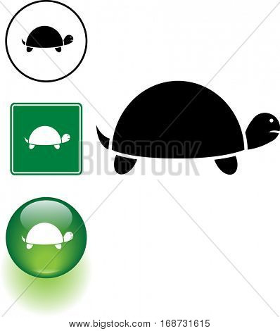 turtle symbol sign and button