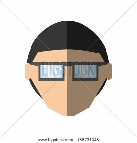 people face man nerd icon image, vector illustration design