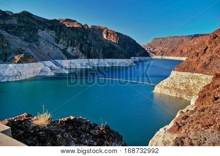 Lake Mead near Hoover Dam. United States