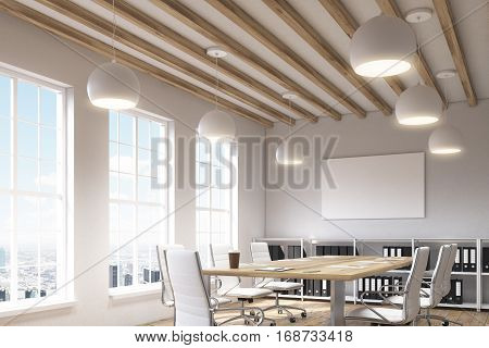 Office With Three Windows