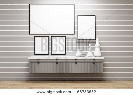 Poster Gallery, Gray Wall