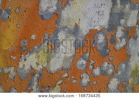 Weathered paint surface