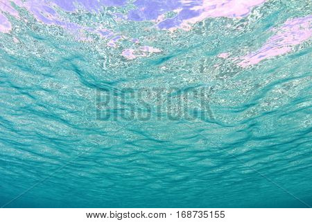 Underwater Ocean Background with Sea Surface