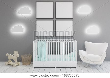 Kid's Room With Armchair And Posters