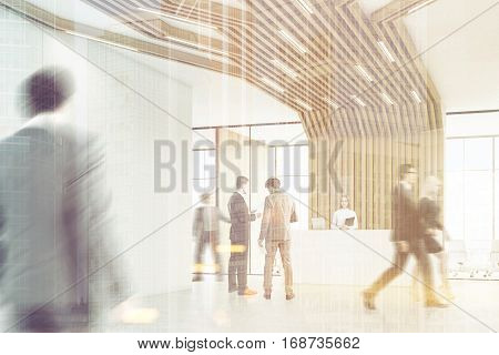 Business People In A Room With Pipes, Toned