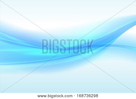 Abstract blue background, wavy vector illustration