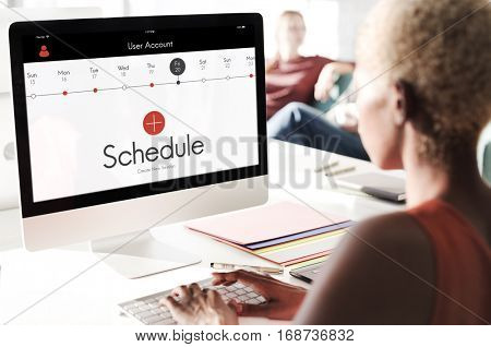 Schedule Time Management Planner Concept