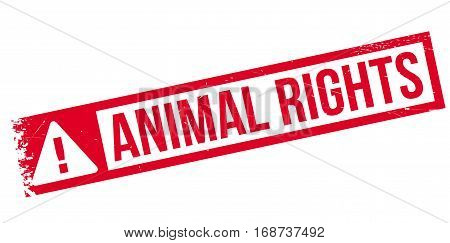 Animal Rights rubber stamp. Grunge design with dust scratches. Effects can be easily removed for a clean, crisp look. Color is easily changed.