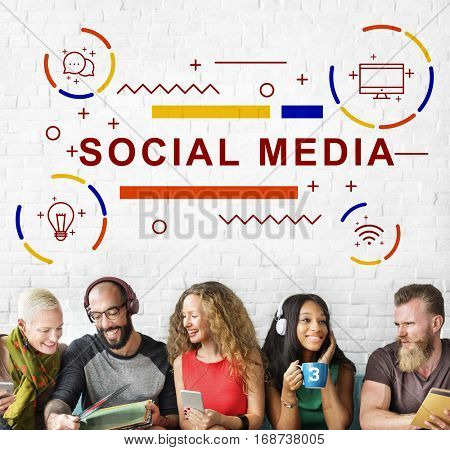 Social Media Connection Communication Graphic Concept