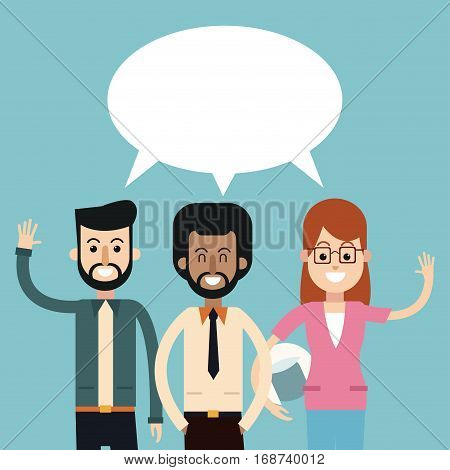 group people talking dialog bubble speech vector illustration eps 10