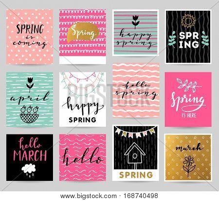 Happy spring illustration