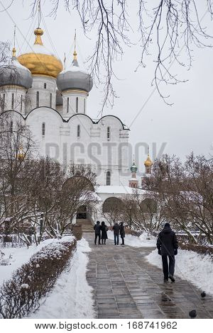 Moscow, Russia. 18 December 2016 : Novodevichy Convent, The Best-known Cloister Of Moscow, Russia An