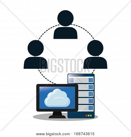 optimization and tuning computer database icon, ector illustration