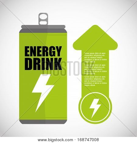 ecology and energy drink saving care image, vector illustration