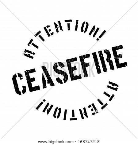 Ceasefire rubber stamp. Grunge design with dust scratches. Effects can be easily removed for a clean, crisp look. Color is easily changed.