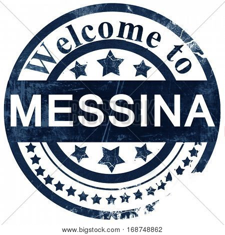 Messina stamp on white background