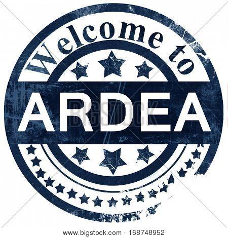 Ardea stamp on white background