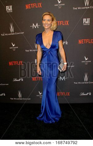 KNicky Whelan arrives at the Weinstein Company and Netflix 2017 Golden Globes After Party on Sunday, January 8, 2017 at the Beverly Hilton Hotel in Beverly Hills, CA.