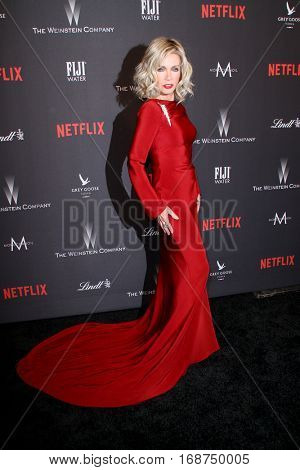 Donna Milles arrives at the Weinstein Company and Netflix 2017 Golden Globes After Party on Sunday, January 8, 2017 at the Beverly Hilton Hotel in Beverly Hills, CA.