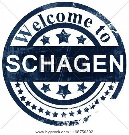 Schagen stamp on white background