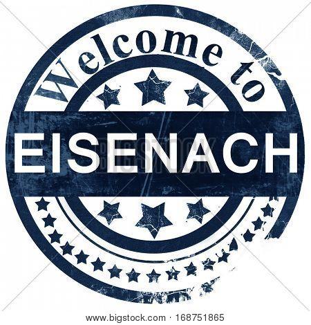 Eisenach stamp on white background