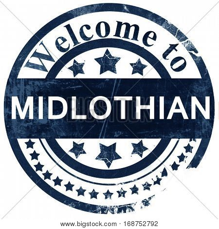 Midlothian stamp on white background